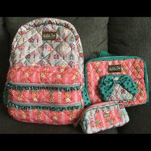Matilda Jane Charm school backpack set